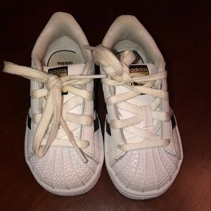 Toddler Adidas Shell Toe sneakers!